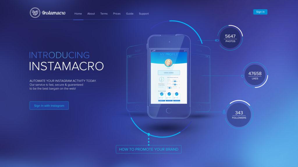 Instamacro Web Design Preview