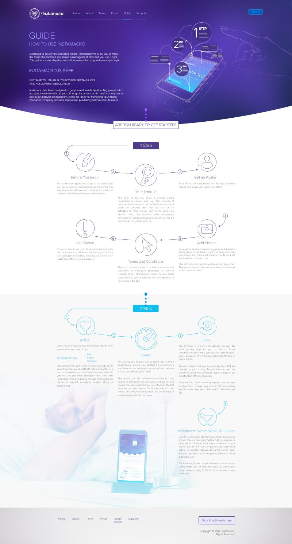 Instamacro Web Design