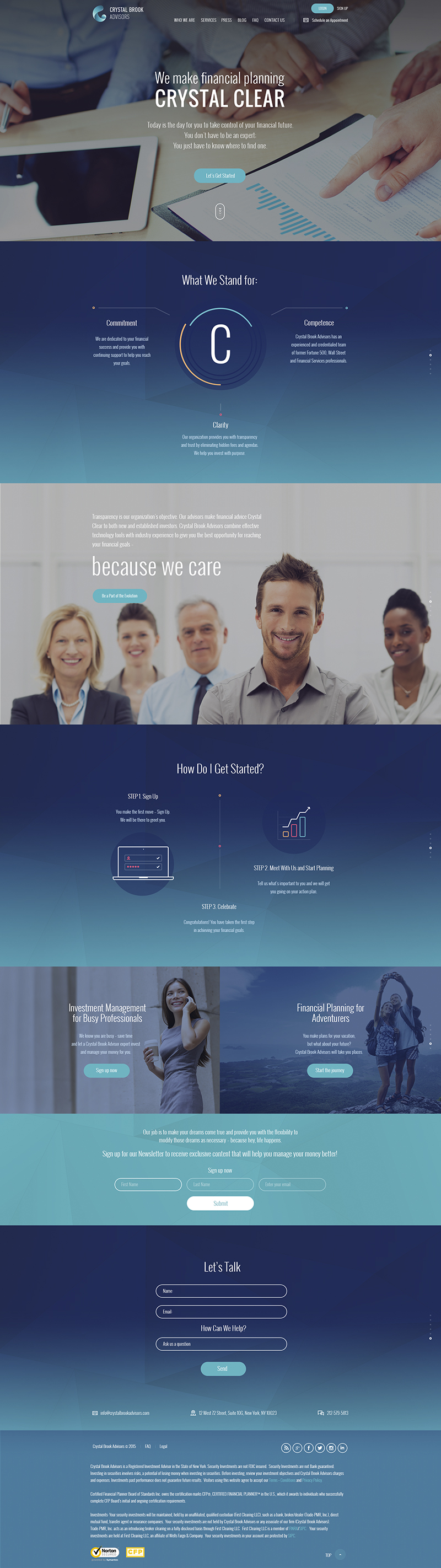 Crystal Brook Advisors Web Design