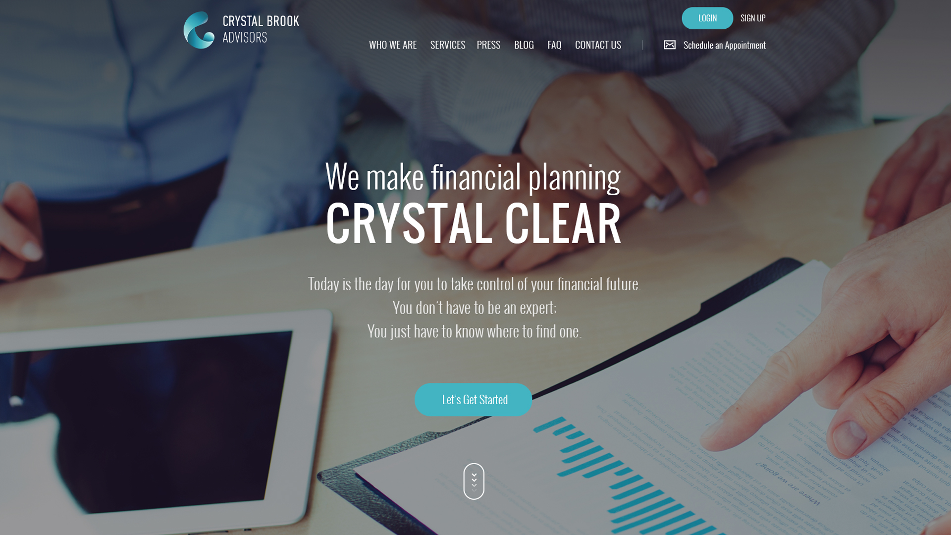 Crystal Brook Advisors Website Design Preview
