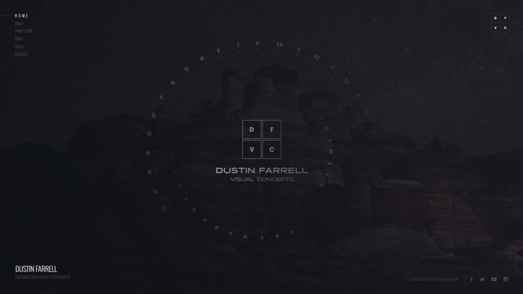 Dustin Farrell Web Design Preview