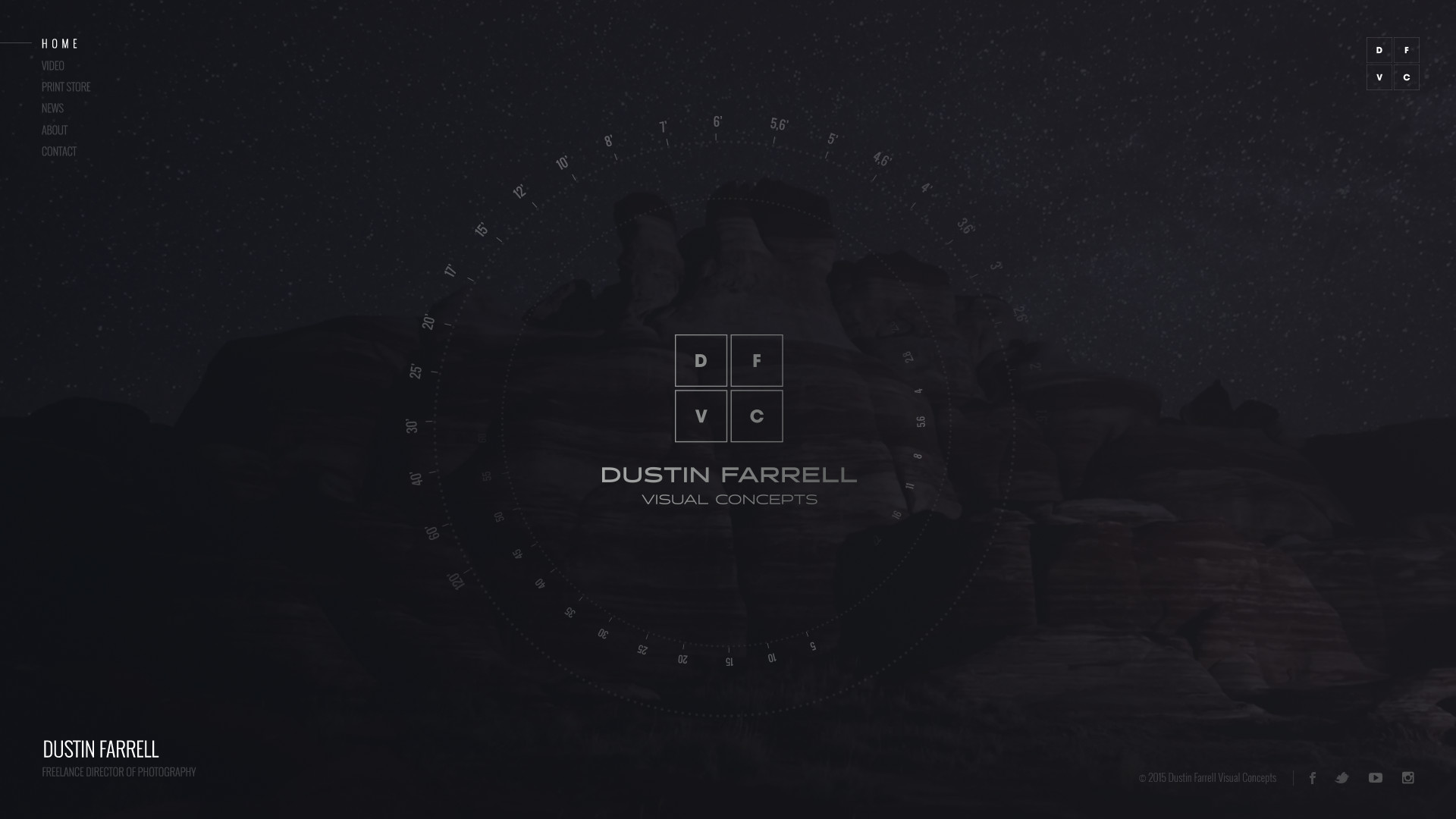Dustin Farrell Website Design Preview