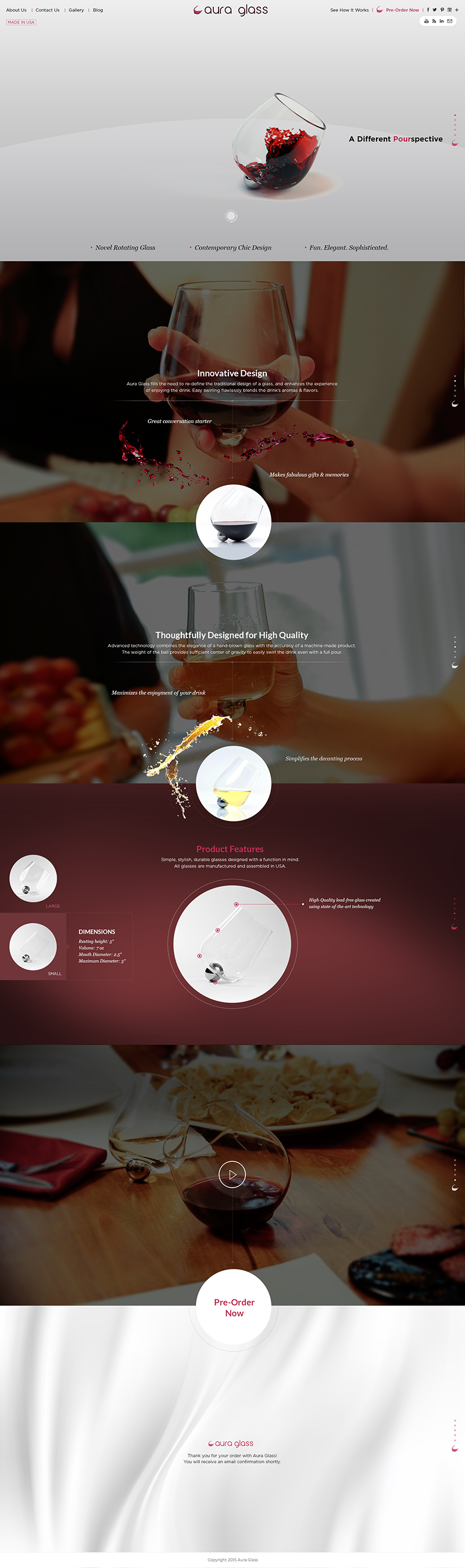 Aura glass Web Design