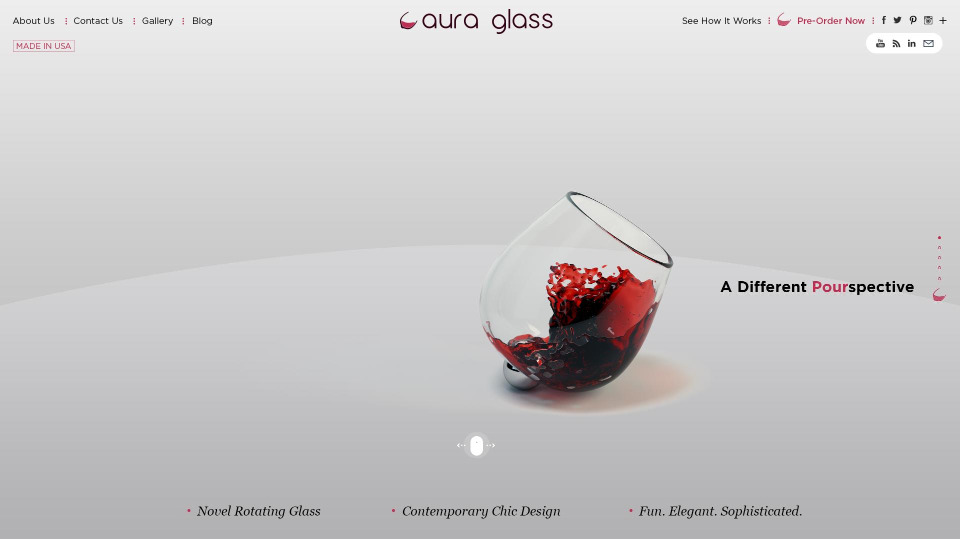 Aura glass Website Design Preview