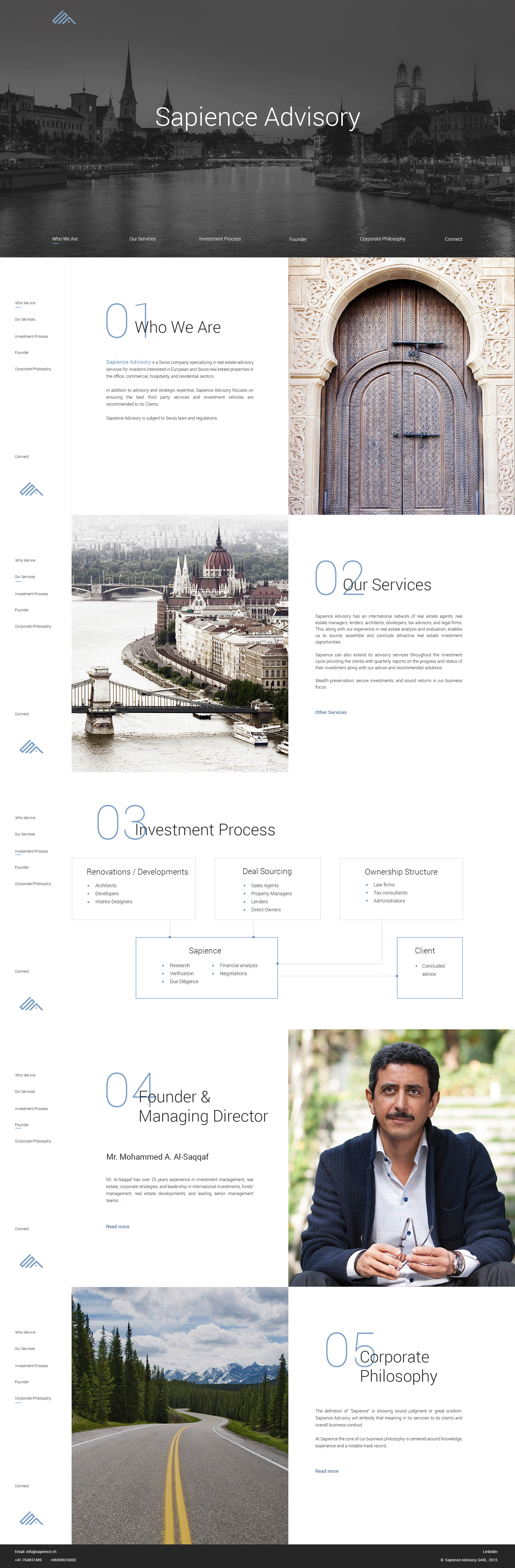 Sapience Advisory Web Design