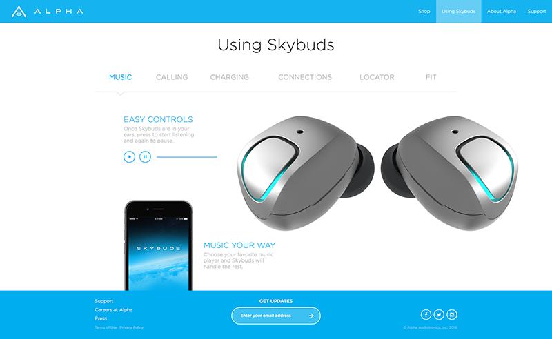 SkyBuds Web Design