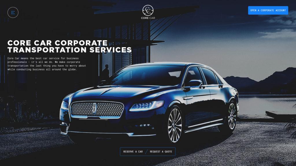 CoreCar Web Design Preview