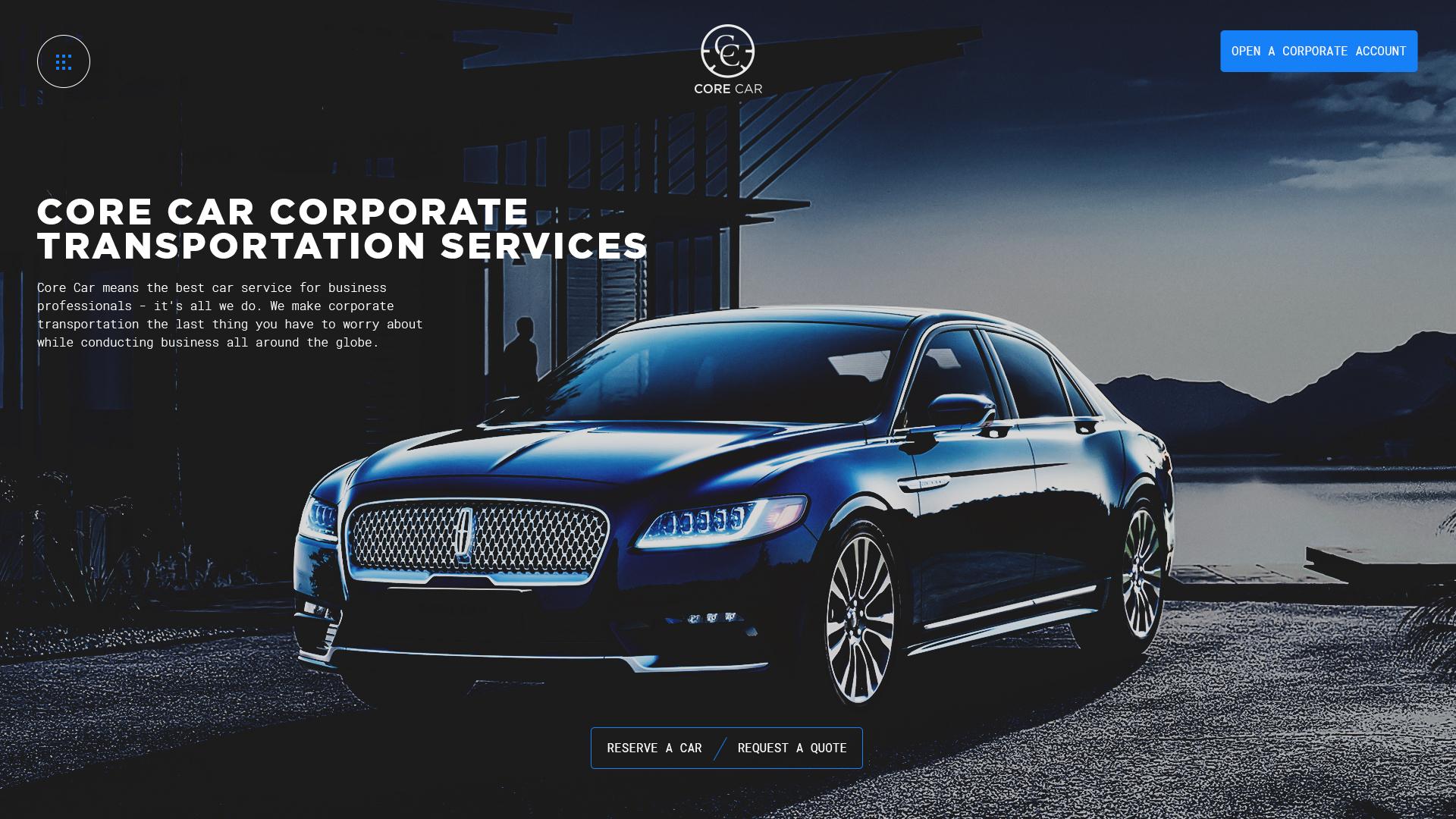 CoreCar Website Design Preview