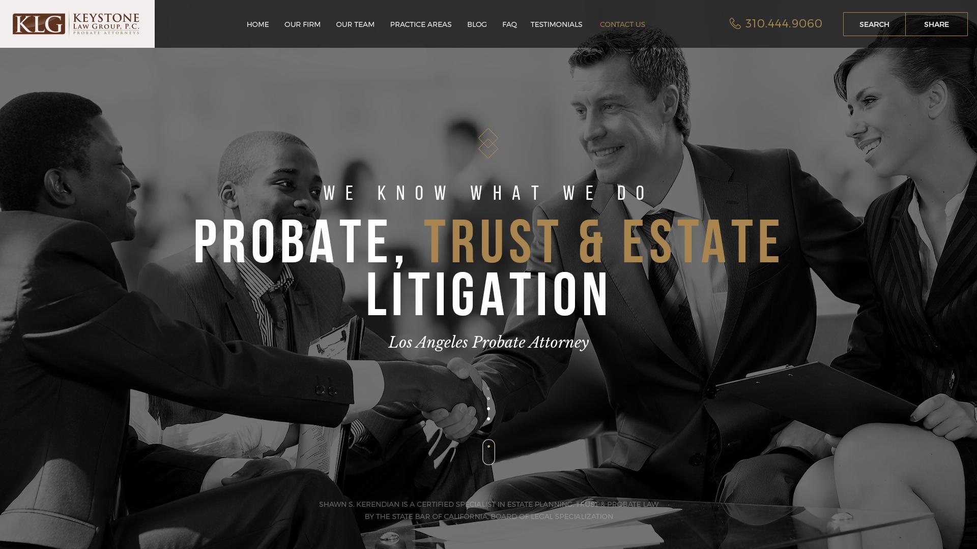 Keystone Website Design Preview