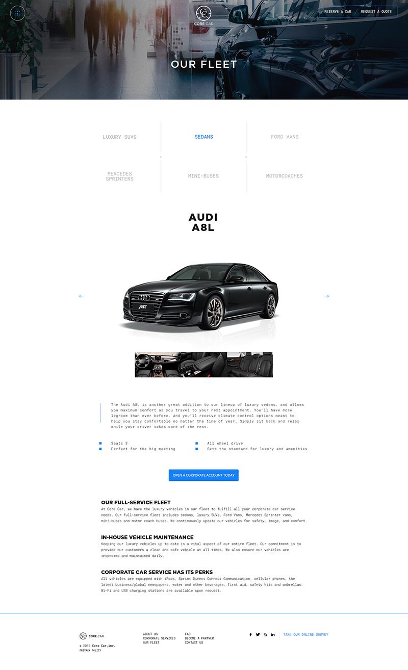 CoreCar Web Design