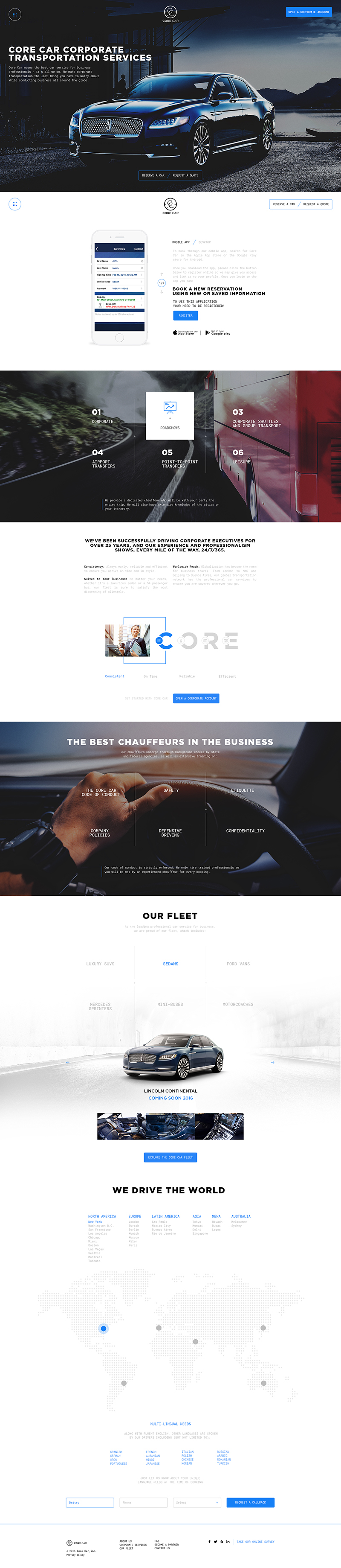 CoreCar Web Design