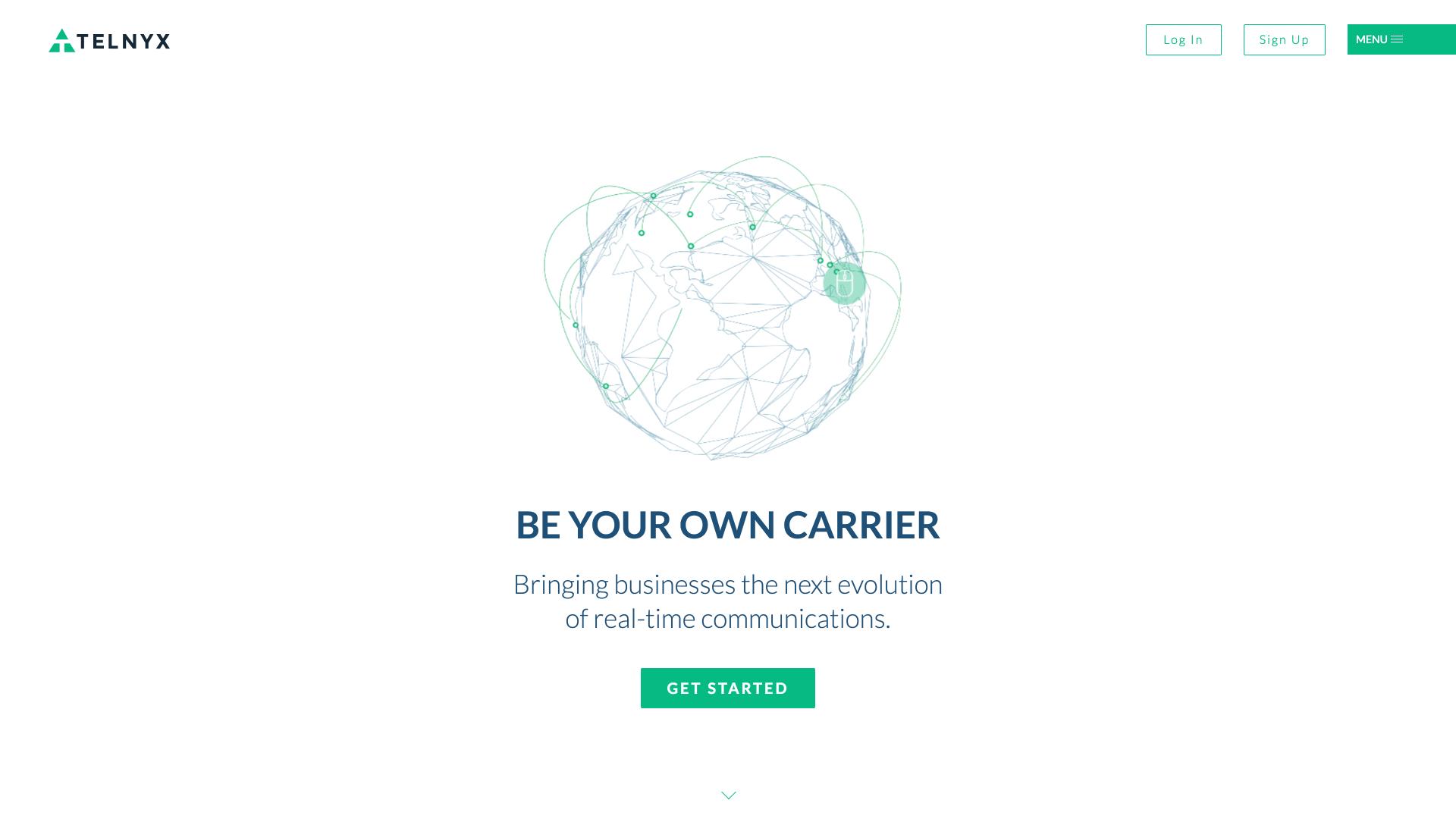Telnyx Website Design Preview
