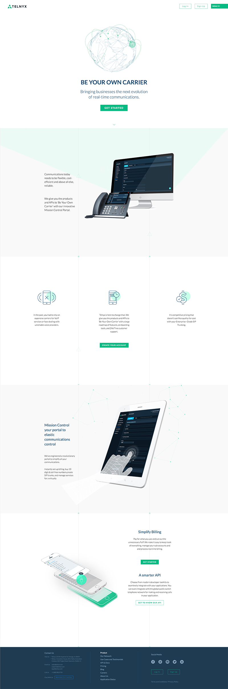Telnyx Web Design