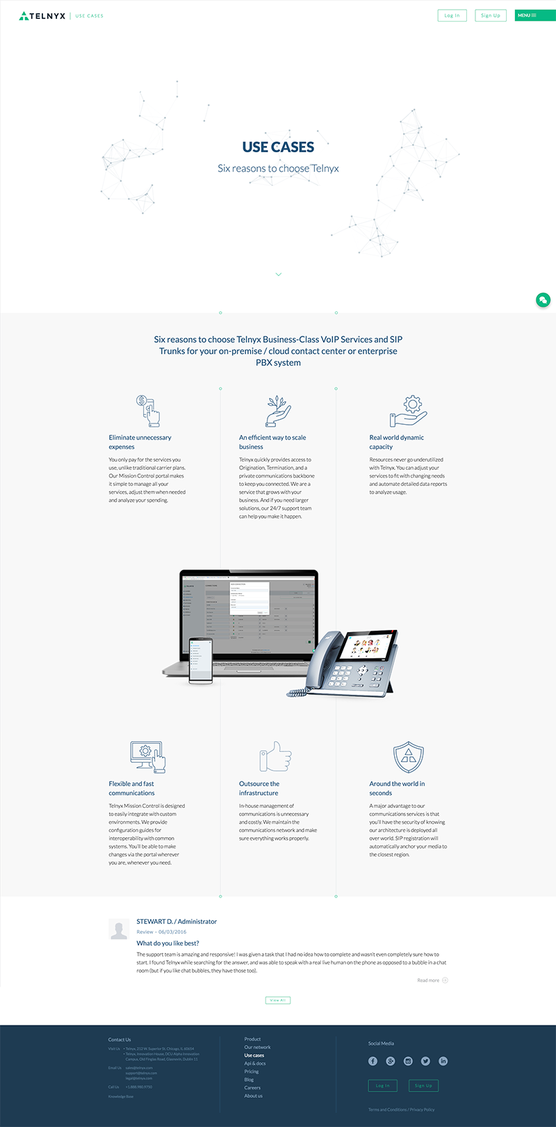 Telnyx Web Design