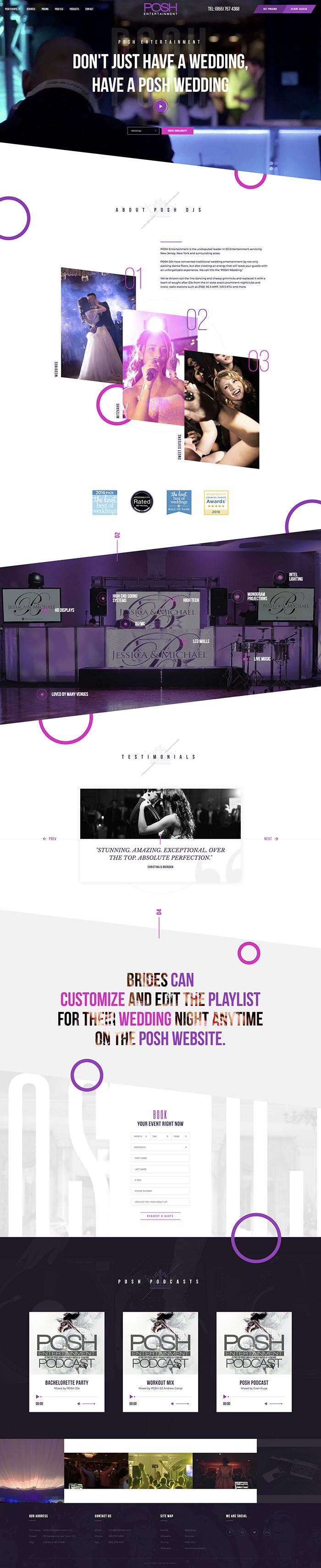 Posh DJs Web Design