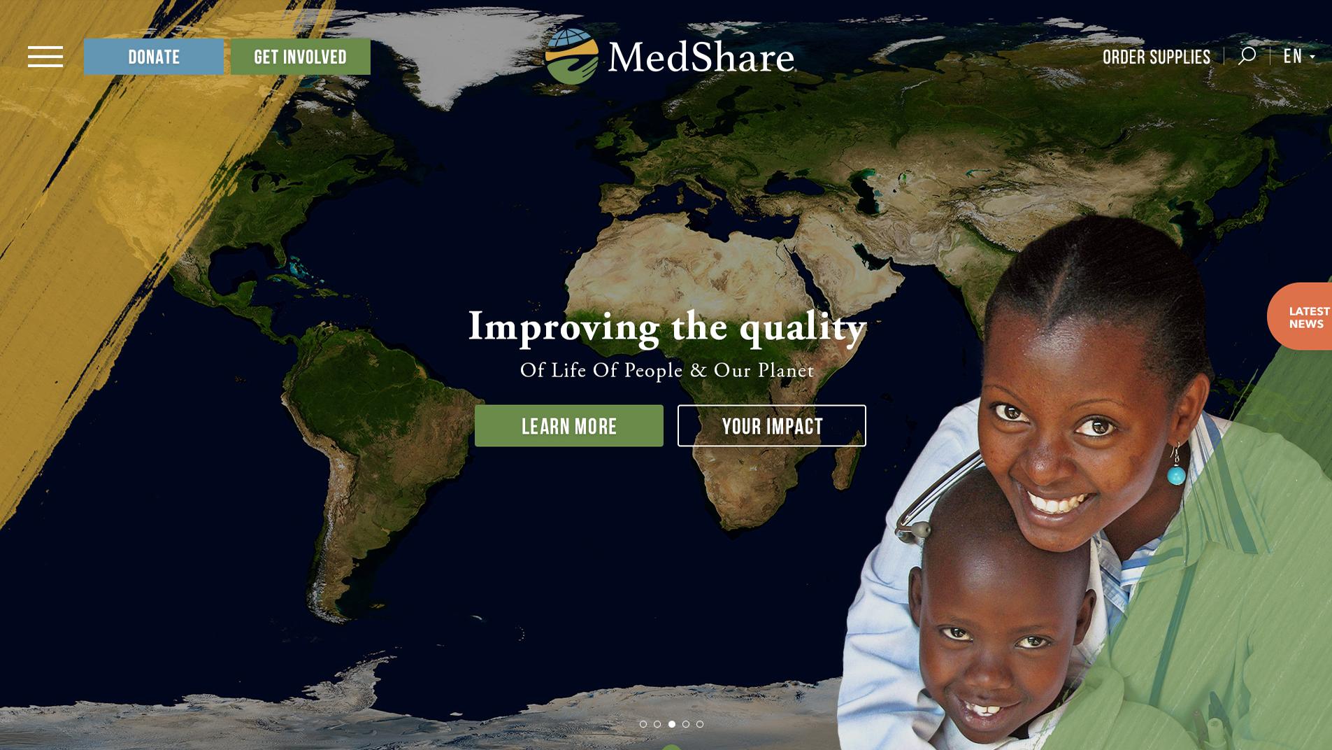 Medshare Website Design Preview
