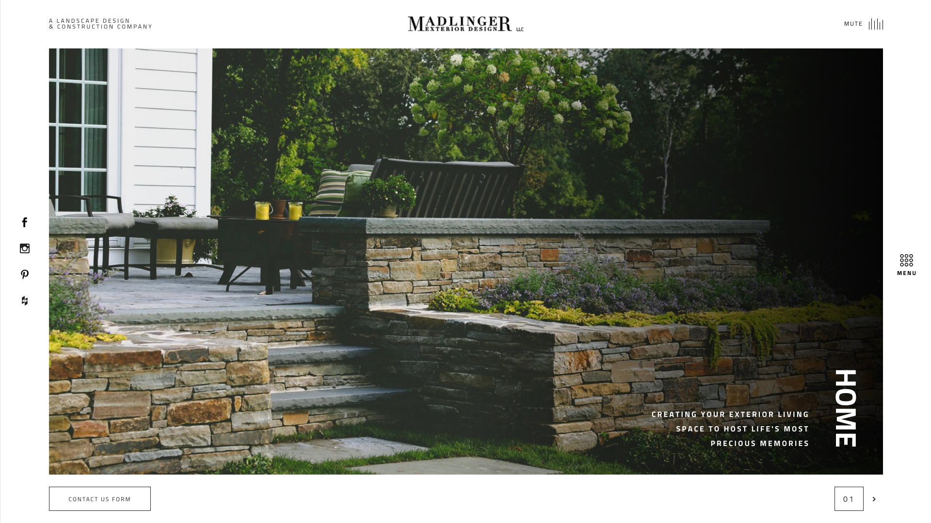 Madlinger Website Design Preview