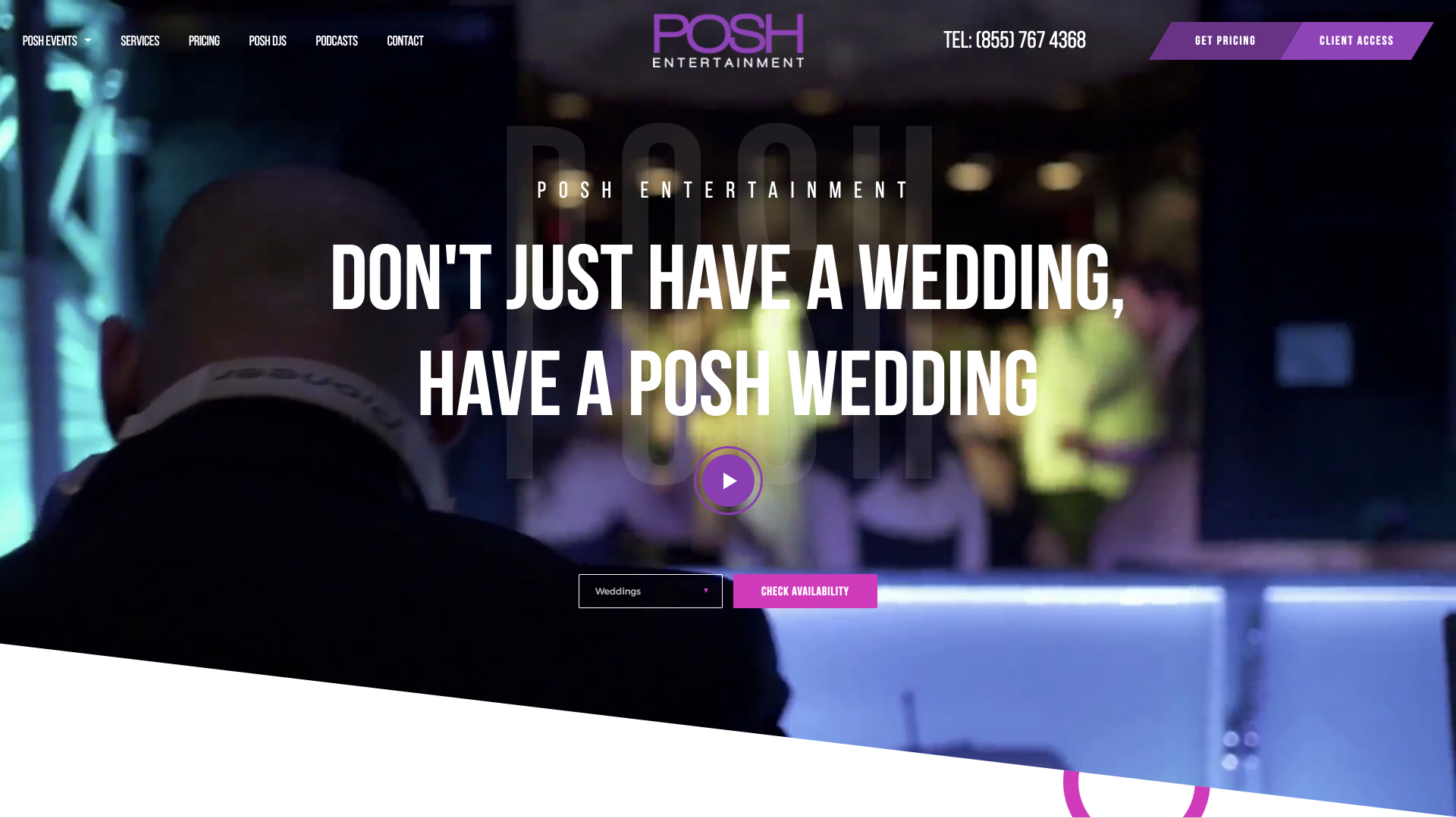 Posh DJs Website Design Preview