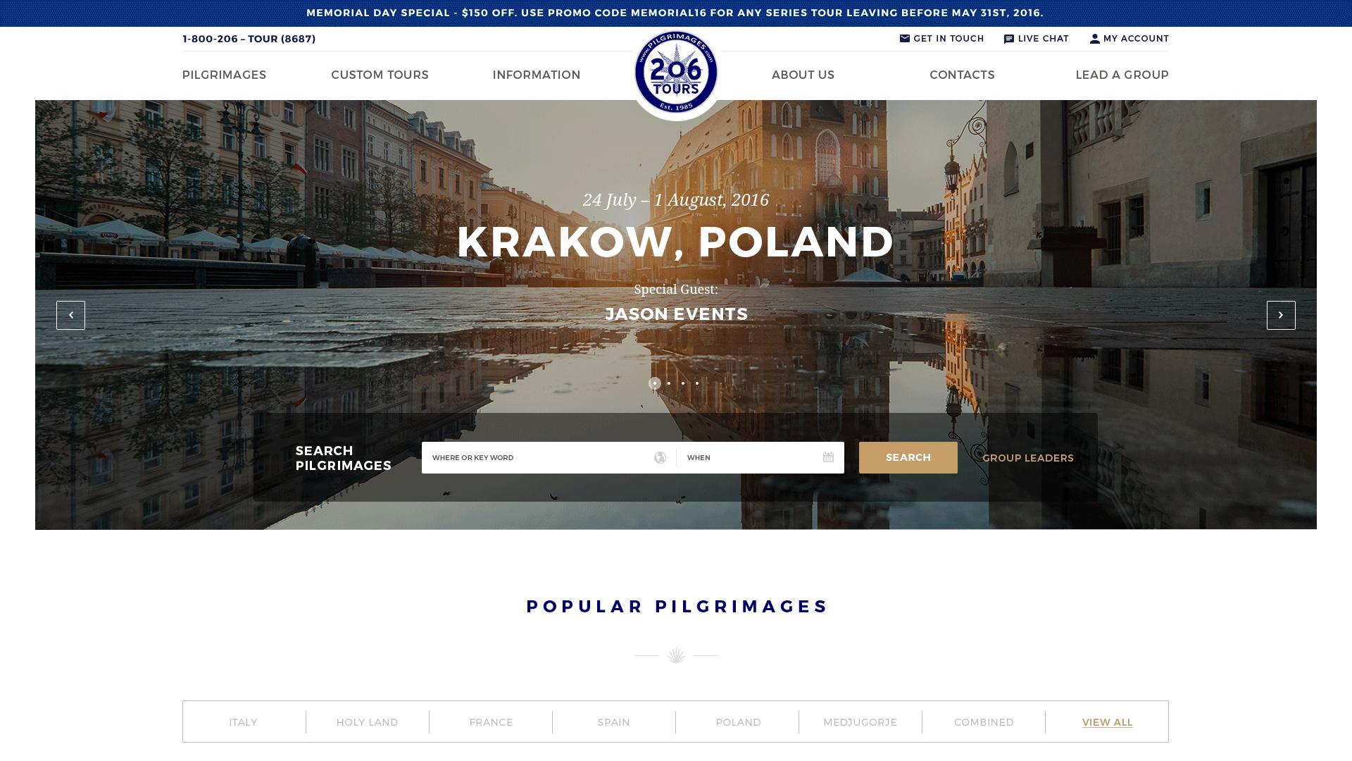 206tours Website Design Preview
