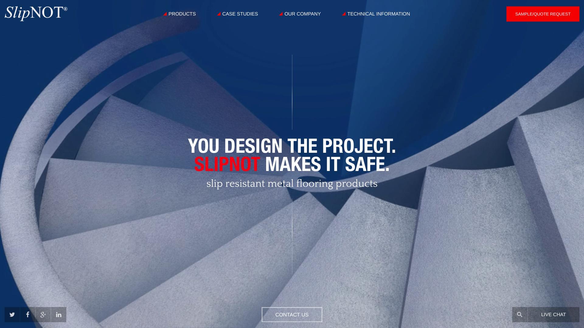 Slipnot Website Design Preview