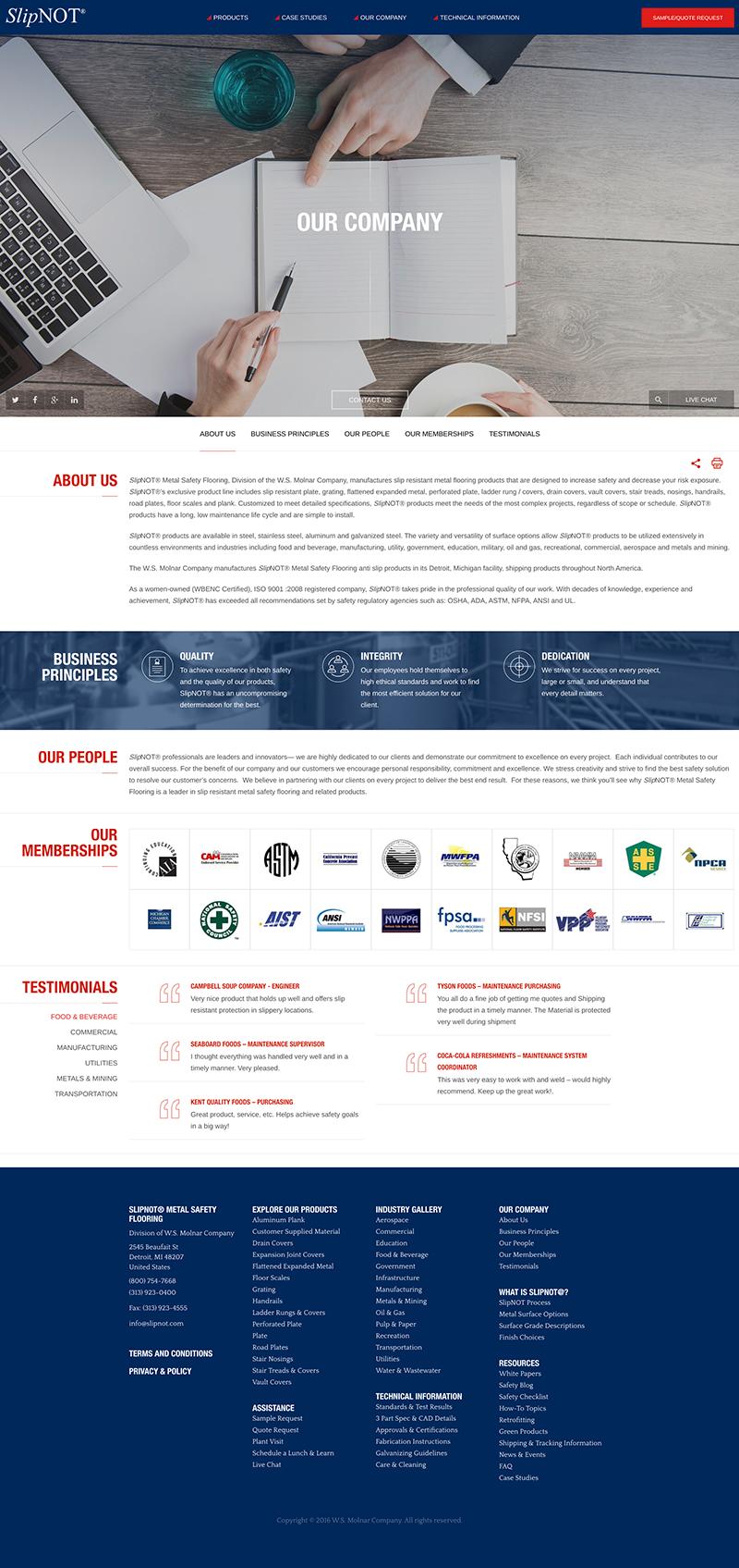 Slipnot Web Design