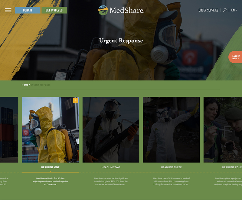 Medshare Web Design