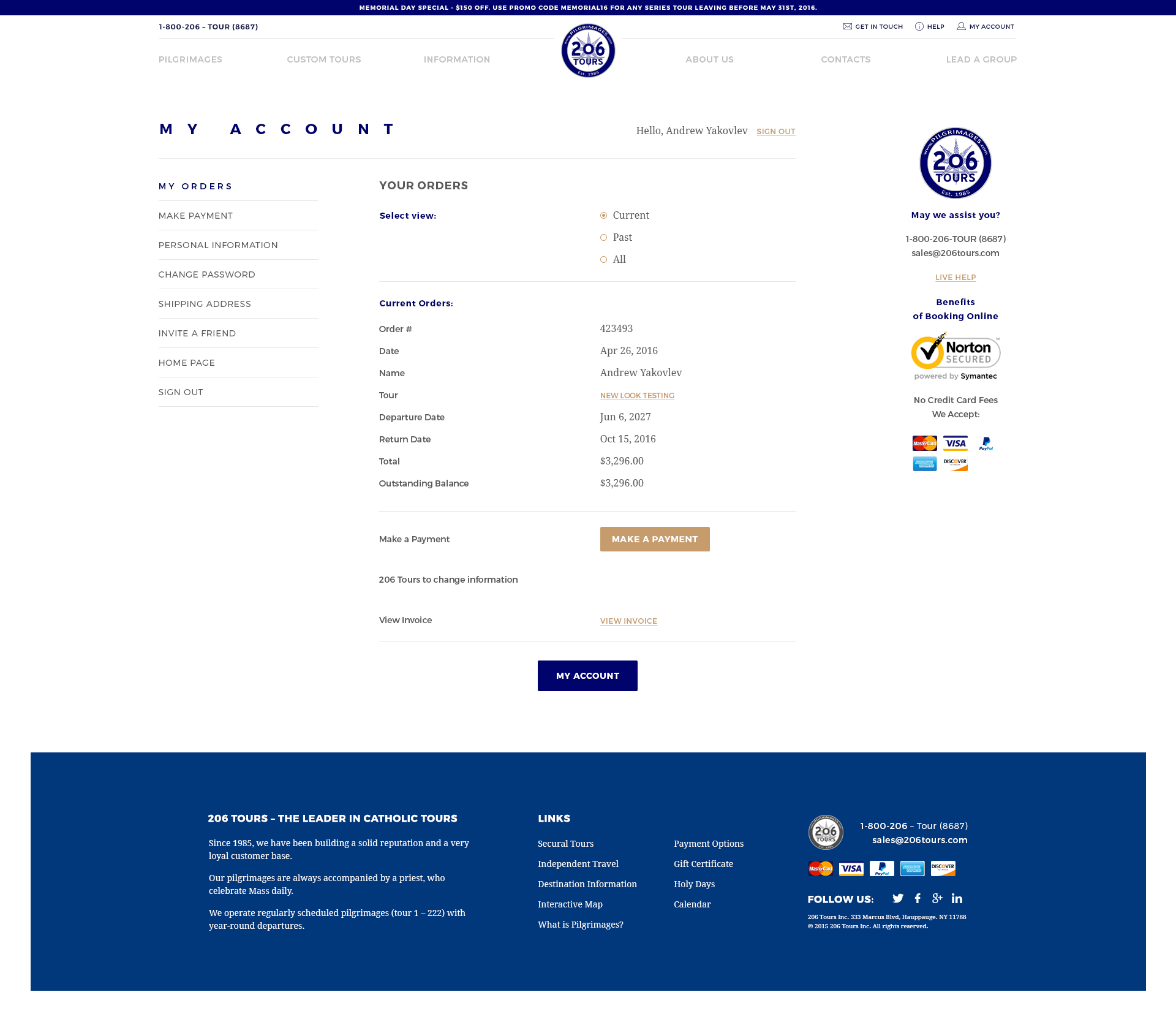 206tours Web Design
