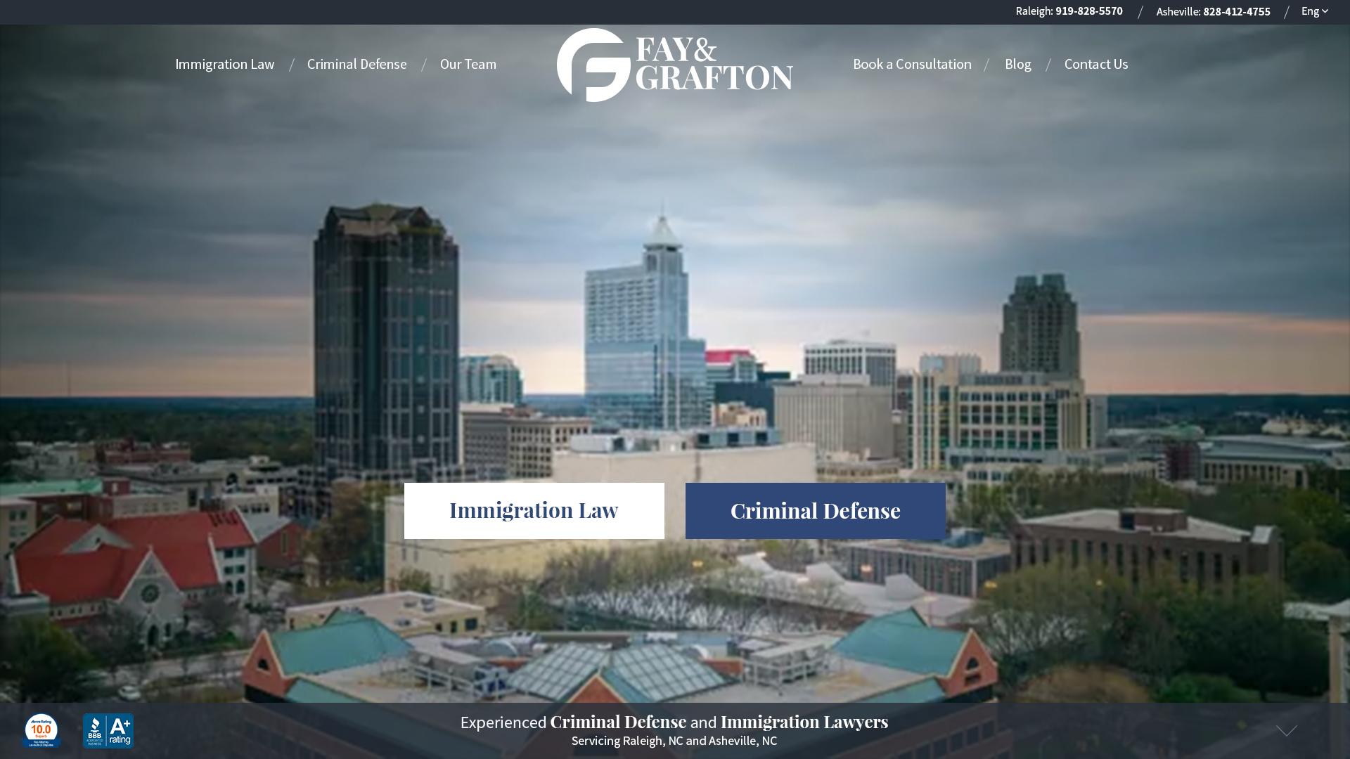 Fay & Grafton Website Design Preview