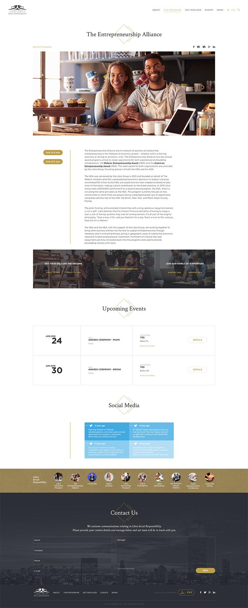 Libra group Web Design