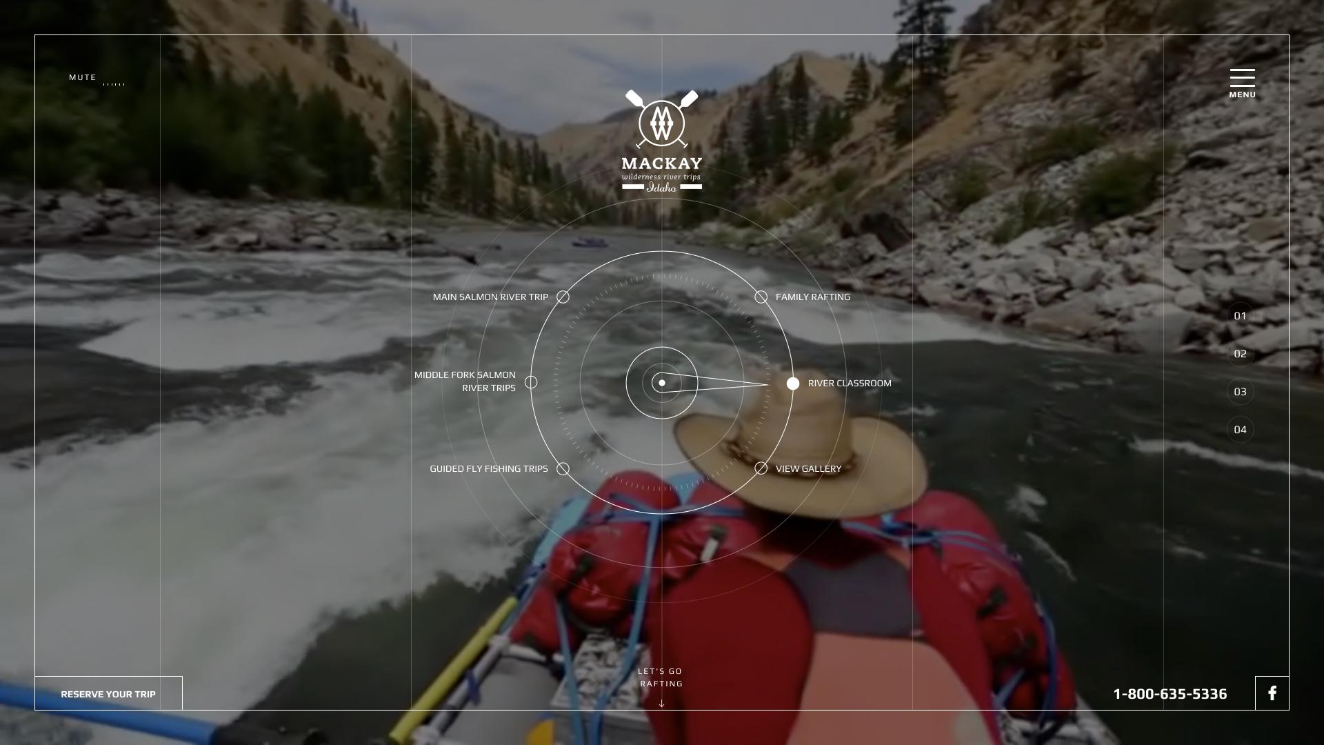 Mackay River Website Design Preview
