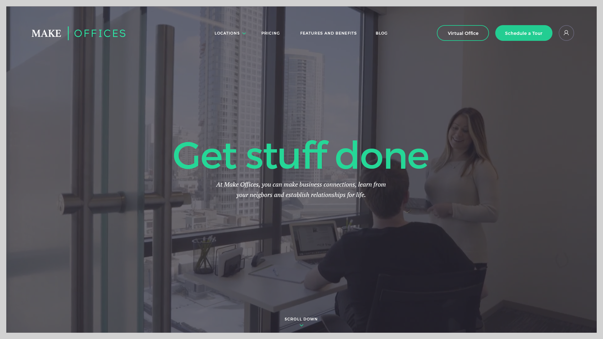 Make offices Website Design Preview