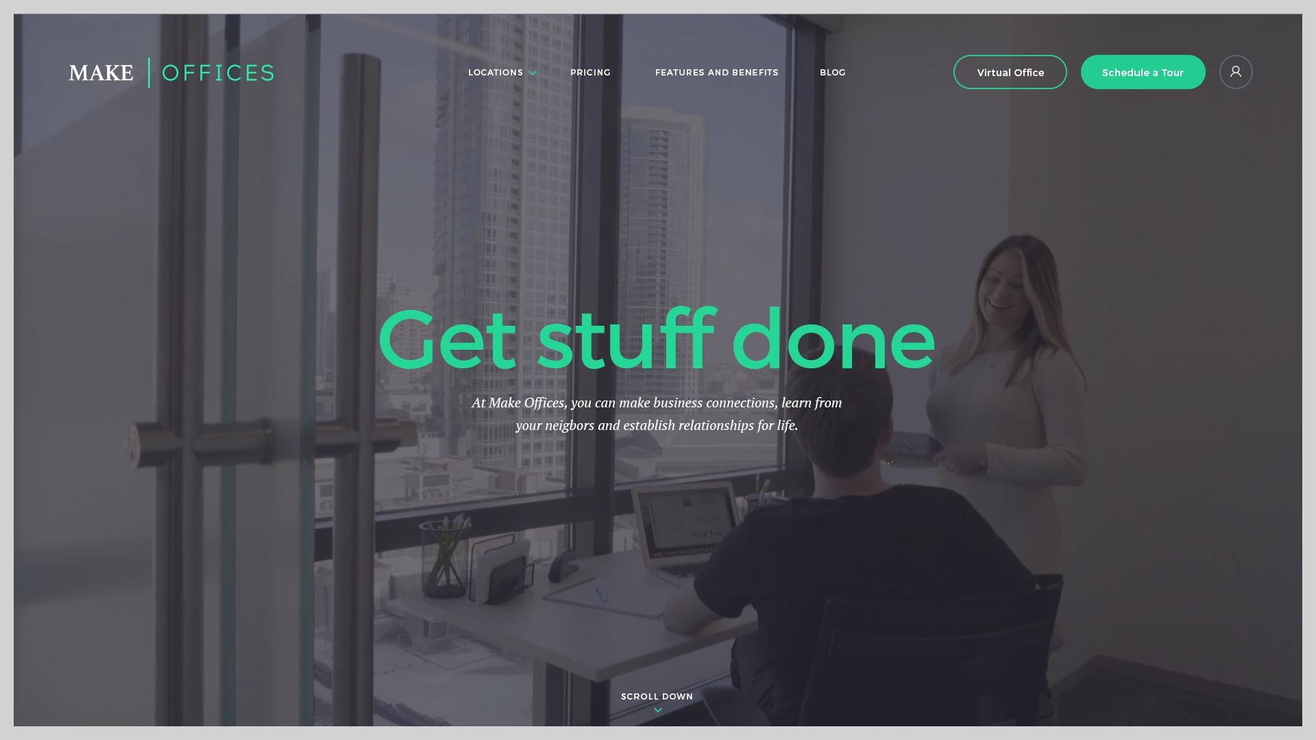 Make offices Website Design Preview
