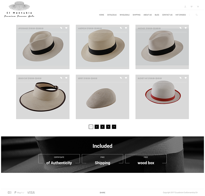 Panama Hats Web Design
