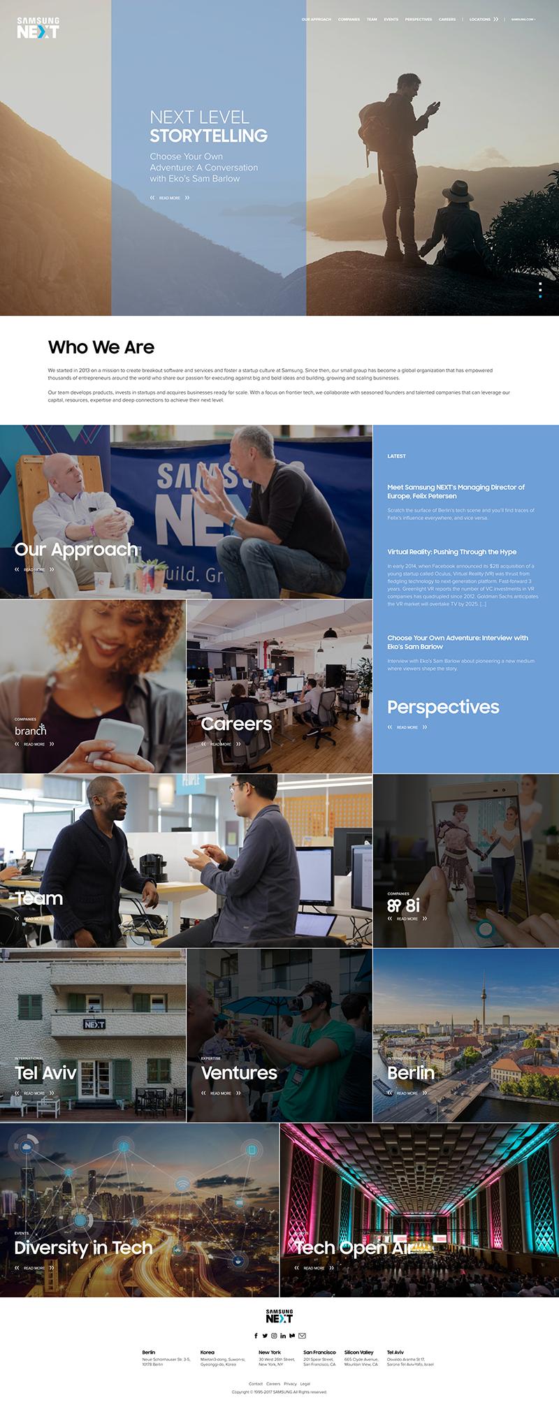 Samsung Next Web Design