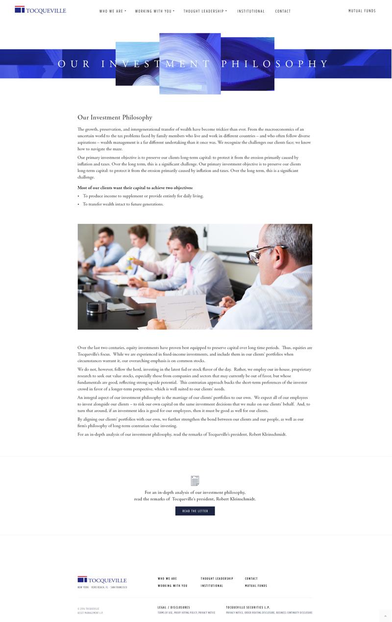 Tocqueville Web Design