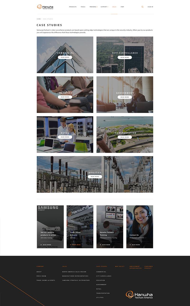 Samsung Hanwha Web Design