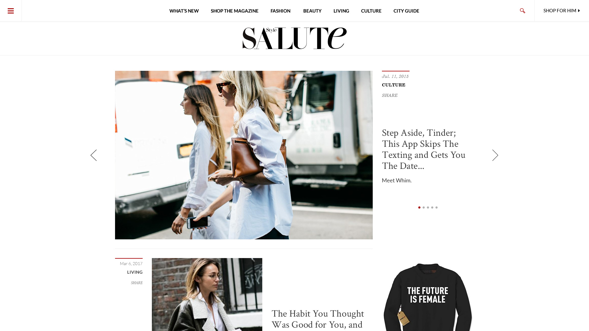 Style Salute Website Design Preview
