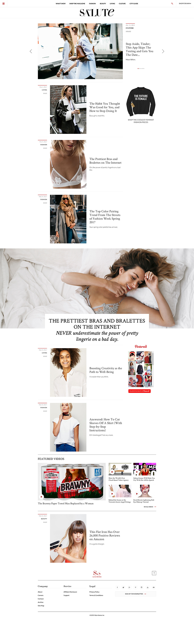 Style Salute Web Design