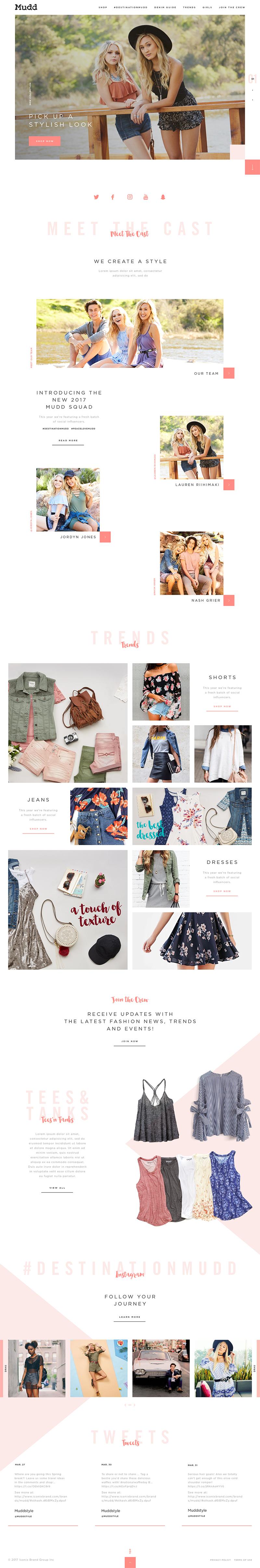 Mudd Jeans Web Design