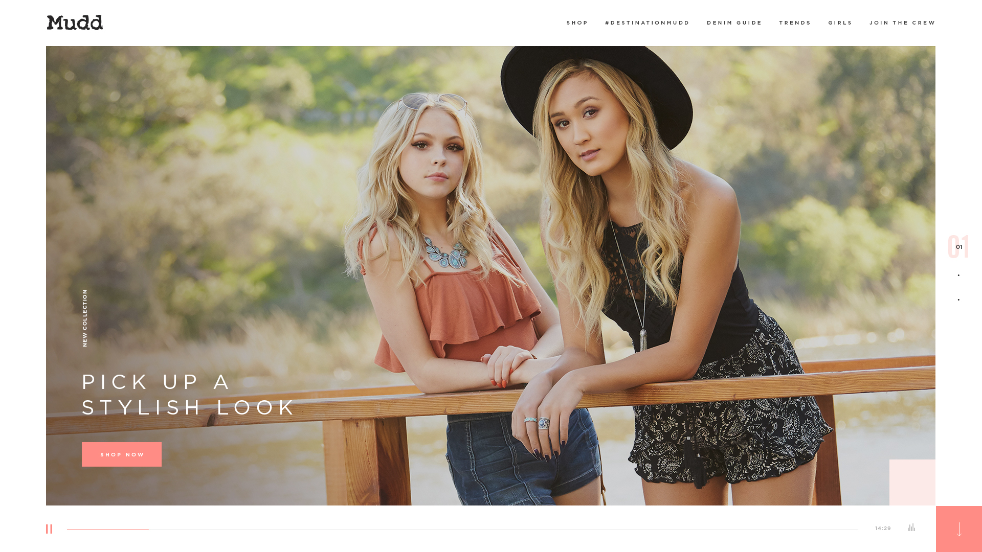 Mudd Jeans Website Design Preview