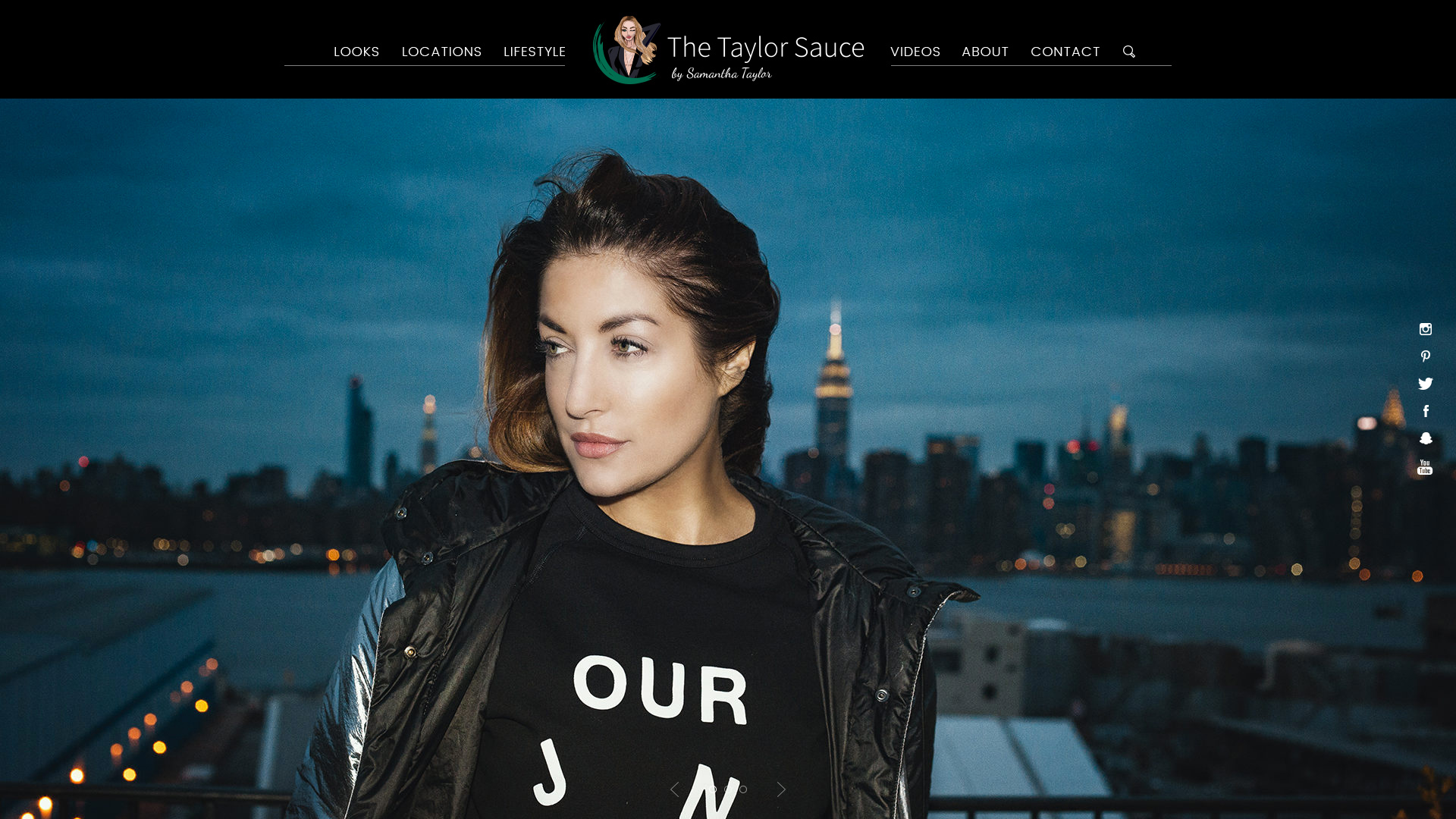 The Taylor Sauce Website Design Preview