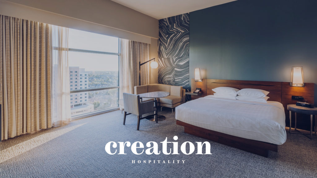 Creation Hospitality Web Design Preview
