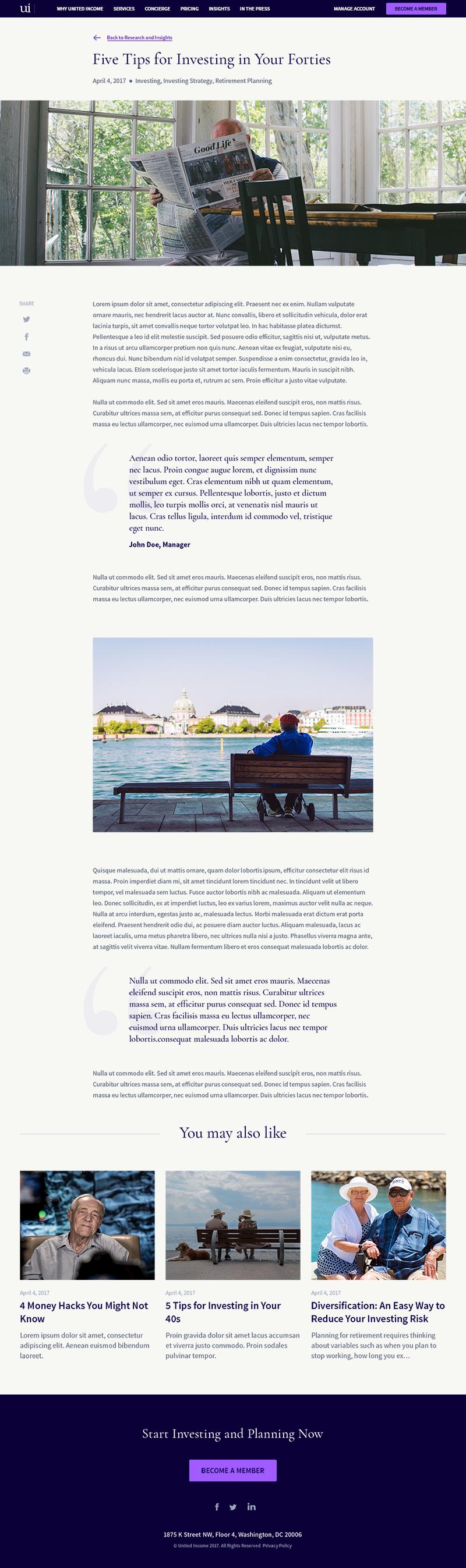 United Income Web Design
