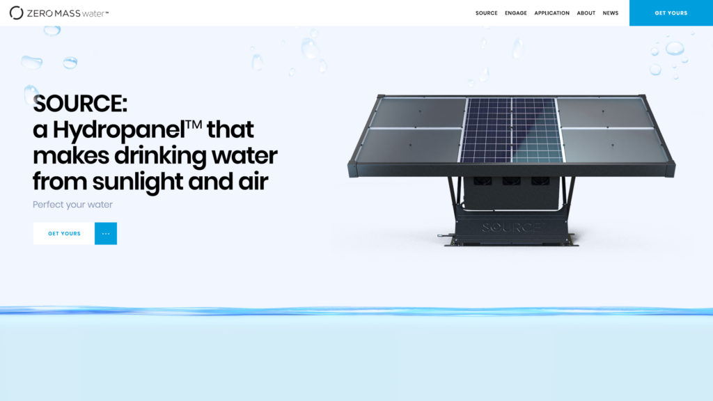 Zero Mass Water Web Design Preview