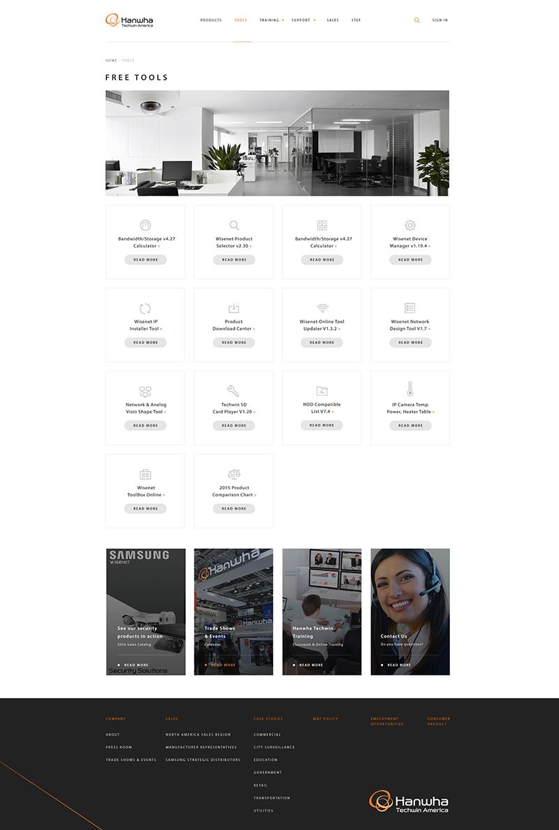 Samsung Hanwha Page Screenshot
