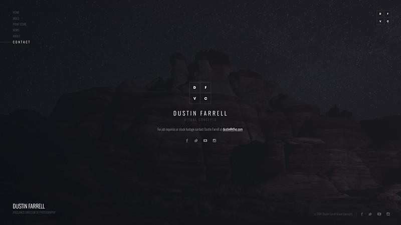 Dustin Farrell Page Screenshot