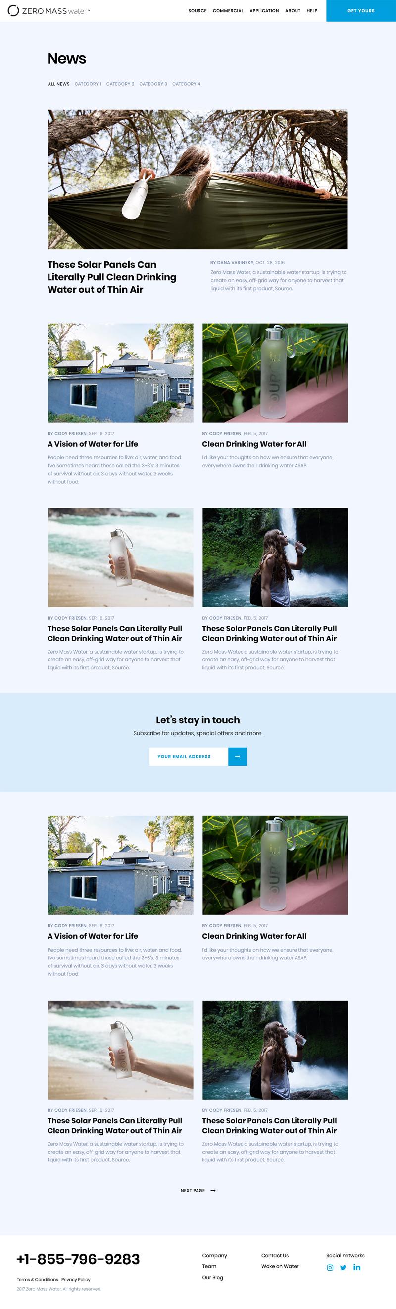 Zero Mass Water Web Design