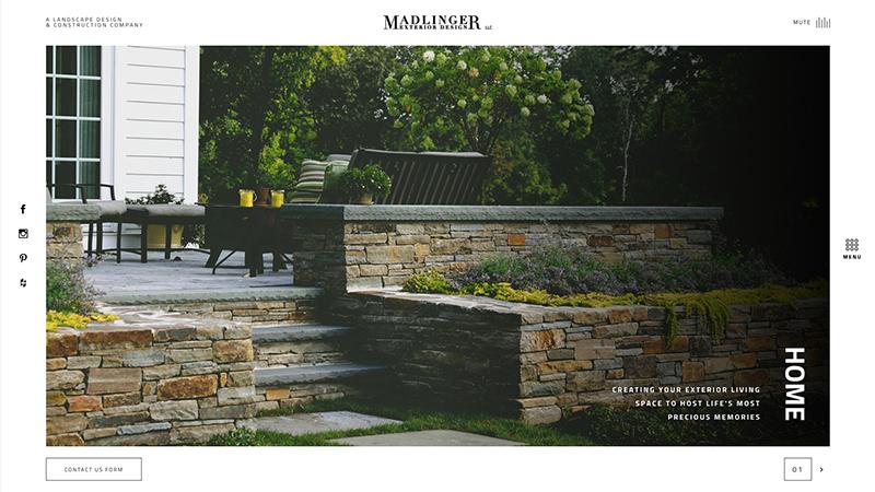Madlinger Home Page Screenshot
