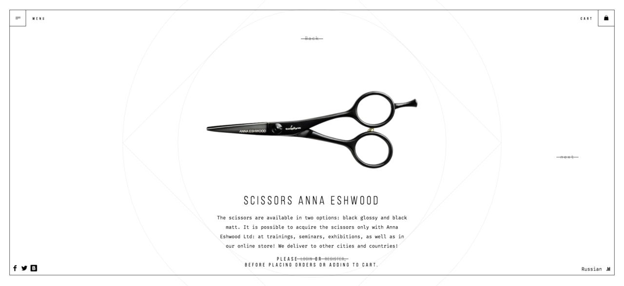 Anna Eswood Product Page Screenshot