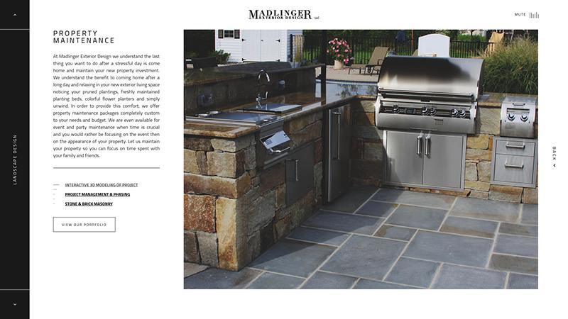 Madlinger Project Page Screenshot